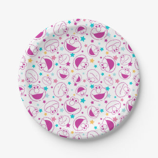 Elmo   Sweet & Cute Star Pattern Paper Plate