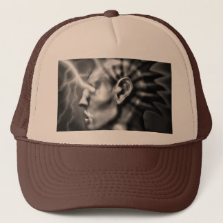eloctroeyes trucker hat
