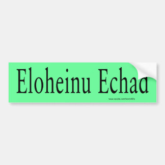 Eloheinu Echad Bumper Sticker (black)