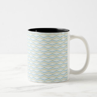 Elongated ZigZags in Gold & Blue Two-Tone Mug
