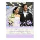 Elopement Announcement Photo Postcards Purple