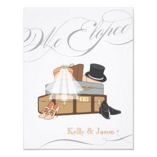 "Elopement Wedding Announcement - Orange 4.25"" X 5.5"" Invitation Card"