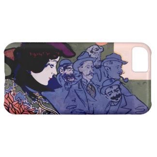 """Els Quatre Gats"" modernist poster of Ramon Houses iPhone 5C Covers"