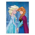 Elsa et Anna - ensemble pour toujours Carte De Vœux