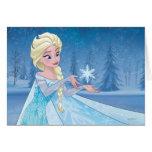 Elsa - laissez-le aller ! carte de vœux