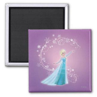 Elsa | Love Thaws, Love Glows Square Magnet