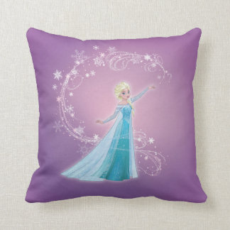 Elsa | Love Thaws, Love Glows Throw Pillow