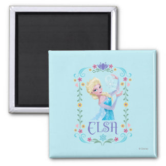 Elsa | My Powers are Strong Square Magnet