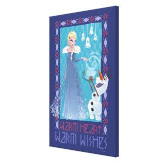 Elsa & Olaf | Warm Heart Warm Wishes Canvas Print