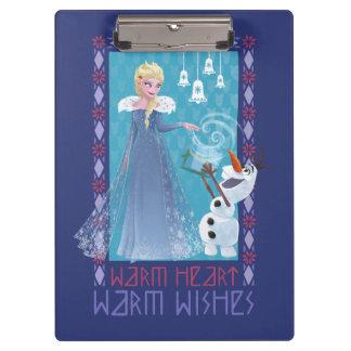 Elsa & Olaf | Warm Heart Warm Wishes Clipboard