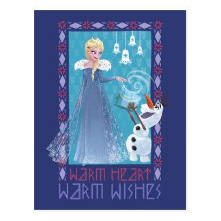 Elsa & Olaf | Warm Heart Warm Wishes Postcard