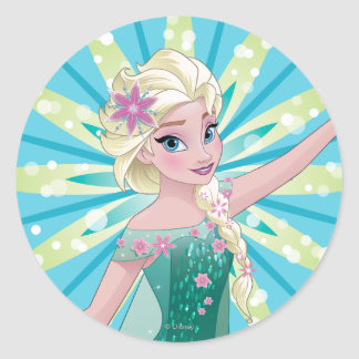 Elsa | Perfect Day Classic Round Sticker