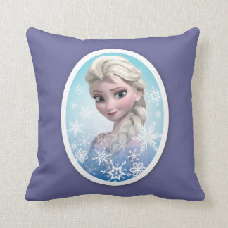 Elsa | Snowflake Frame Throw Pillow