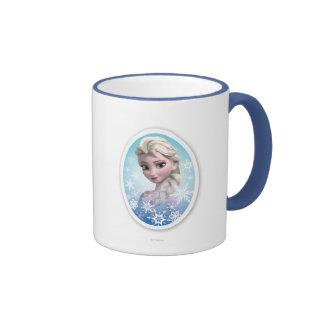 Elsa Snowlake Frame Ringer Mug