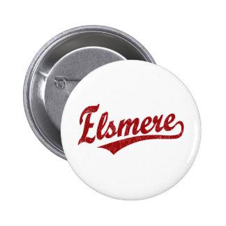Elsmere script logo in white pins