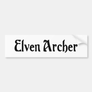 Elven Archer Bumper Sticker