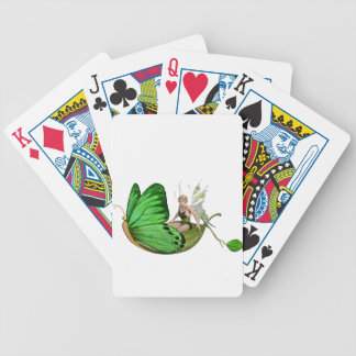 Elven Fairy on a Leaf Boat Bicycle Playing Cards