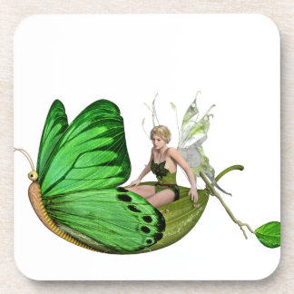 Elven Fairy on a Leaf Boat Coaster