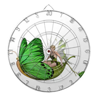 Elven Fairy on a Leaf Boat Dartboard