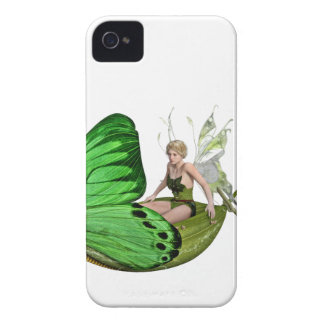 Elven Fairy on a Leaf Boat iPhone 4 Case-Mate Case