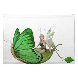 Elven Fairy on a Leaf Boat Placemat