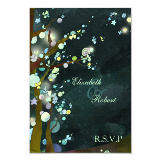"Elven Forest Trees Fantasy Wedding RSVP (3.5x5) 3.5"" X 5"" Invitation Card"