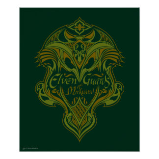 Elven Guards of Mirkwood Shield Icon Poster