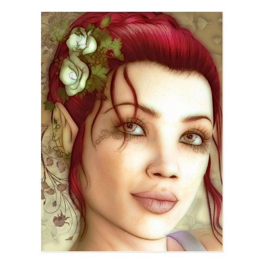 Elven Princess Fantasy Art Postcard