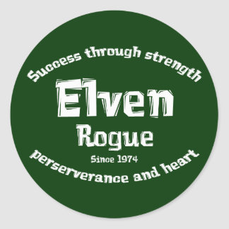 Elven Rogue Gifts Classic Round Sticker