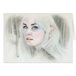 Elven Snow Queen Greeting Card