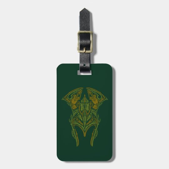 Elven Weapons Helmet Icon Luggage Tag