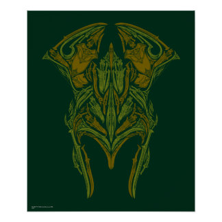 Elven Weapons Helmet Icon Poster