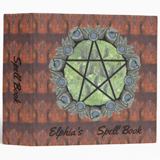 Elvenwood Pentacle Brown Leaf BG. BOS Lg Binder
