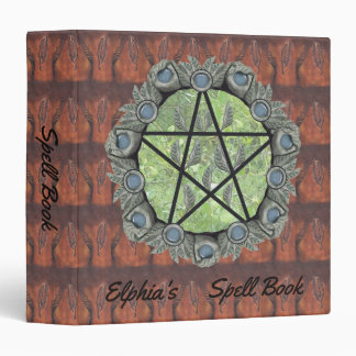 Elvenwood Pentacle Brown Leaf BG. BOS Med 3 Ring Binder
