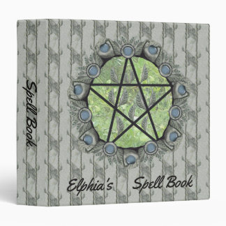 Elvenwood Pentacle Brown Leaf BG. BOS Med Vinyl Binder