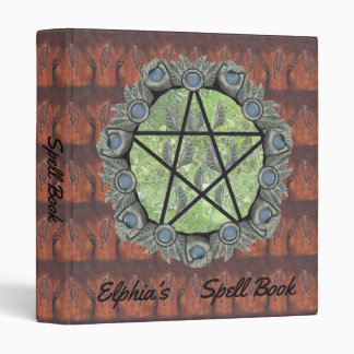 Elvenwood Pentacle Brown Leaf BG. BOS Sml 3 Ring Binder