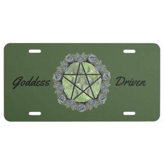 Elvenwood Pentacle Choose Your BG. Col. License Plate