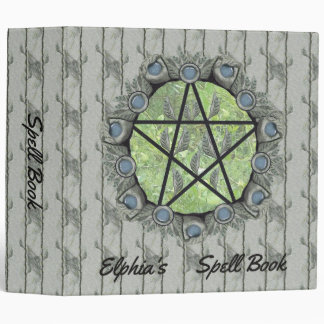 Elvenwood Pentacle Green Leaf BG. BOS Lg 3 Ring Binder