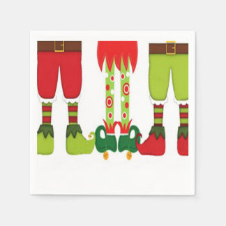 Elves And More Christmas Party Paper Napkins