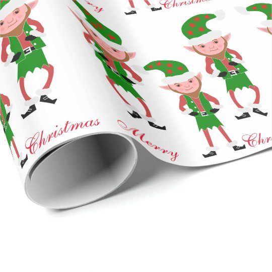 Elves Christmas Wrapping Paper