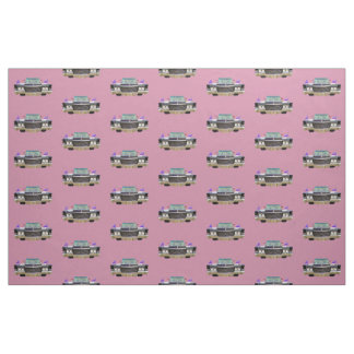 Elvira fabric pink background