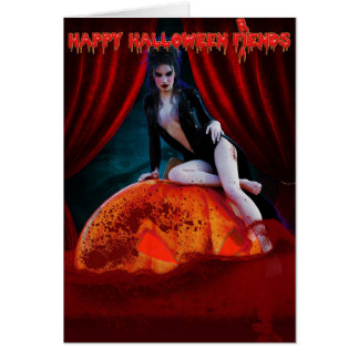 Elvira Mistress of the Dark Halloween Card