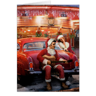 Elvis and Marilyn Christmas Card