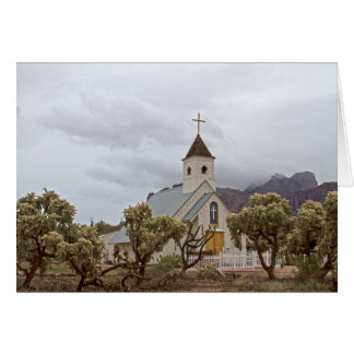 Elvis church at the Superstition mountains Card