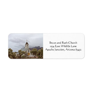 Elvis church at the Superstition mountains Return Address Label