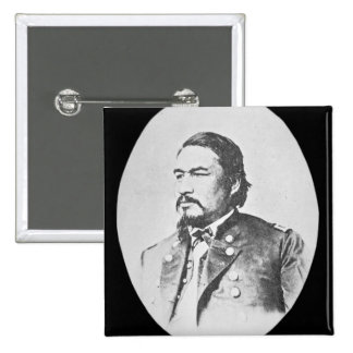 Ely Samuel Parker (1828-95) Seneca Chief and Feder 2 Inch Square Button