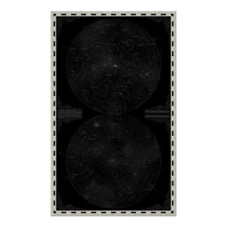 Elyden Constellation Chart Poster