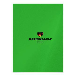 "EM 2016 Nationalelf Germany 5.5"" X 7.5"" Invitation Card"