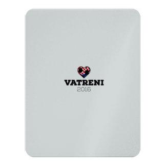 "EM 2016 Vatreni Croatia 4.25"" X 5.5"" Invitation Card"