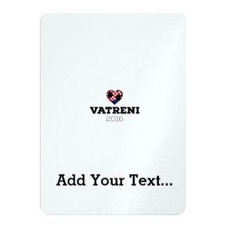 "EM 2016 Vatreni Croatia 5"" X 7"" Invitation Card"